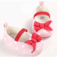 Lovely Bow Decor Polka Dotted Shoes for Toddler Girl
