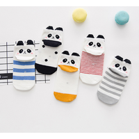 5-pack Adorable Panda Print Socks for Baby and Kid