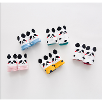 5-pack Cute Dotted Panda Intarsia Socks for Baby and Toddler