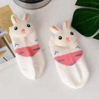 1-pack Cute Carrot Rabbit Decor Baby Socks