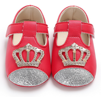Baby's Chic Glitter Crown Prewalkers