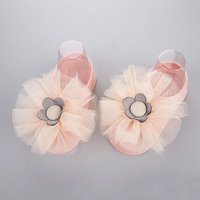 1-pair Cute Mesh Flower Socks for Baby Girl