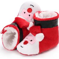 Lovely Santa Claus Design Plush Crib Boots