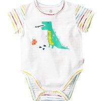 Cute Striped Dinosaur Print Bodysuit in Green for Baby Boy