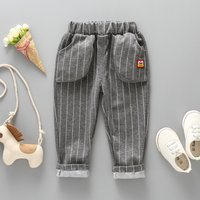 Casual Striped Pocket Design Pants for Toddler Boy and Boy