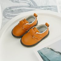 Solid Velcro Leather Shoes for Toddler