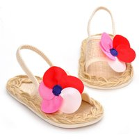 Flower Espadrille Sandals for Baby Girls