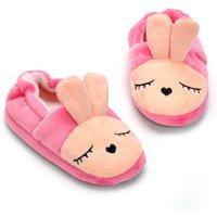 Lovely Felt Bunny Design  Color Blocked Shoes