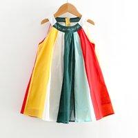 Stylish Color-blocking Sleeveless Dress for Toddler Girl and Girl