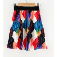Colorful Geo Patterned Skirt for Girl