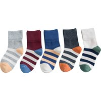 5-pair Comfy Striped Socks for Kids