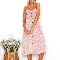 Stylish Floral Shirred Backless High-waist Strap Dress