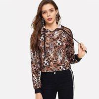 Chic Leopard Print Long-sleeve Hoodie
