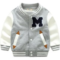 Cool Appliqued Letter M Sporty Coat for Toddler and Baby