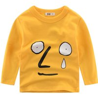 Fun Expression Print Long Sleeve Tee for Boys