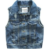 Cool Ripped Denim Vest for Toddler Boy and Boy