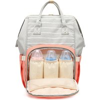 Color Block Portable Large Capacity Diaper Bag Backpack