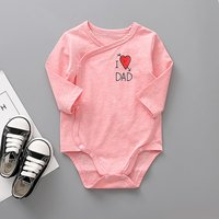 Sweet Letters Print Long Sleeves Bodysuit for Newborn and Baby Girl