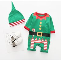 Super Cute Elf Jumpsuit with Hat in Green for Baby