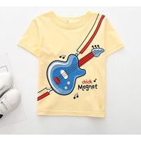 Fashionable Guitar Print Short-sleeve Tee for Toddler Boy and Boy
