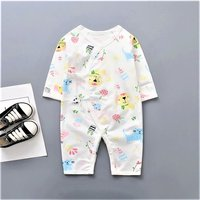 Pretty Cat Print Long Sleeves Kimono Jumpsuit for Baby
