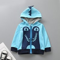 Stylish Dinosaur Print Long-sleeve Hooded Jacket for Baby Boy and Boy