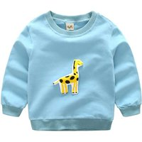 Cute Giraffe Applique Long-sleeve Pullover for Baby and Kid