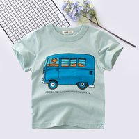 Casual Bus Print Short-sleeve Tee