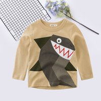 Casual Shark Print Long-sleeve Pullover