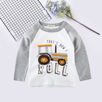 Casual Tractor Splice Long-sleeve Pullover for Boy
