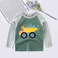 Comfy Truck Print Long-sleeve Pullover for Boy