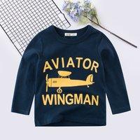 Casual Wingman Aviator Print Long-sleeve Pullover