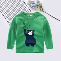 Lovely Bear Print Long-sleeve Pullover
