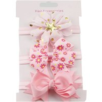 3-pack Pretty Floral Bowknot Elastic Hair Band for Girl