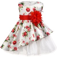 Stylish Sleeveless Floral Tulle Party Dress for Baby and Toddler Girl