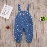 Baby/Toddler's Heart Pattern Overalls