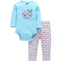 Lovely Butterfly Bodysuit and Pants Set for Baby Girls