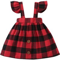 Classic Plaid Suspender Dress for Baby Girl