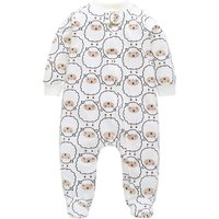 Lovely Allover Sheep Footed Long-sleeve Jumpsuit for Baby