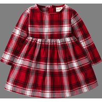 Graceful Plaid Long-sleeve Dress for Baby and Toddler
