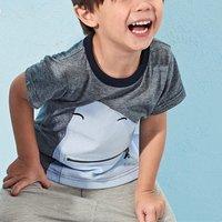 Fun Shark Print Short-sleeve Tee for Boys
