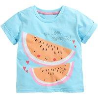 Stylish Watermelon Print Short-sleeve Tee for Baby Girl