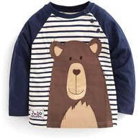 Fashionable Bear Appliqued Long-sleeve Tee for Toddler Boy and Boy