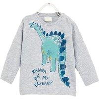 Cute Dinosaur Print Long-sleeve Tee for Baby Boy and Boy
