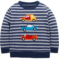 Cute Striped Appliqued Car Long-sleeve Pullover for Toddler Boy and Boy