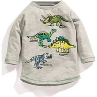 Stylish Dino Print Long-sleeve T-shirt for Toddler Boy and Boy