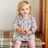 Lovely Butterfly and Dragonfly Pattern Long-sleeve Dress for Toddler Girl and Girl