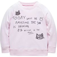 Sweet Letter Print Long-sleeve Pullover for Baby and Kid