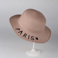 Trendy Solid PARIS Print Straw Hat for Baby Boy