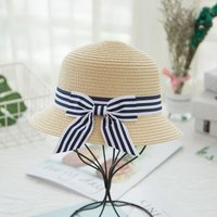 Fashionable Bow Decor Straw Hat for Baby Girl